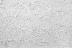 Gepleisterde witte muur Stock Foto's