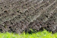 Geploegde grond stock fotografie