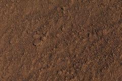 Geploegde textuur, gecultiveerd land Stock Foto