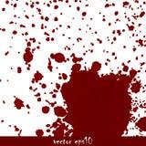 Geploeterde bloedvlekken Stock Foto