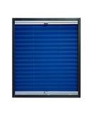 Geplooide blinde donkere marineblauwe kleur Stock Foto's