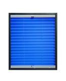 Geplooide blinden - blauwe azuurblauwe kleur Stock Afbeeldingen