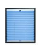 Geplooide blinden - lichtblauwe azuurblauwe kleur Royalty-vrije Stock Afbeeldingen