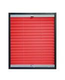 Geplooide blinden - rode kleur Royalty-vrije Stock Fotografie
