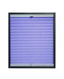 Geplooide blinden - violette purpere kleur Stock Foto