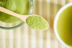 Gepoederde groene thee Stock Foto's