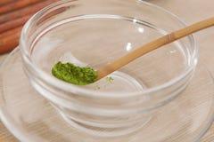 Gepoederde groene thee Royalty-vrije Stock Fotografie