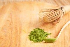 Gepoederde groene thee Royalty-vrije Stock Afbeelding