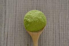 Gepoederde matcha groene thee Stock Foto