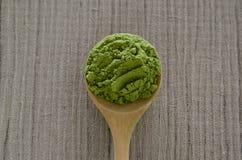 Gepoederde matcha groene thee Royalty-vrije Stock Fotografie