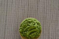Gepoederde matcha groene thee Royalty-vrije Stock Afbeeldingen
