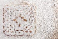 Gepoederde suiker voor koekjes Stock Afbeeldingen