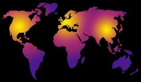 Gepolariseerde wereldkaart vector illustratie