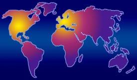 Royalty vrije stock fotografie wereldkaart vijf continenten