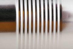 Geprägte Metalloberflächennahaufnahme Stockfoto