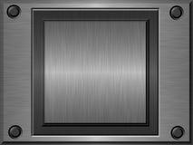 Geprägtes Metallplatten Stockbilder