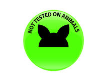 Geprüft nicht auf Tierzeichenikone Nicht geprüftes Symbol Stockfoto