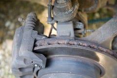 Geprüfte Bremsenplatte Lizenzfreies Stockfoto