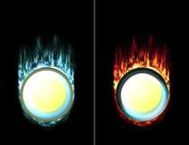 Gepresste und ungepresste Feuereistaste stock abbildung