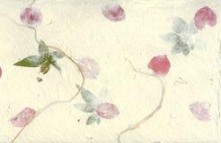 Gepresster Blumen-Papier-Hintergrund Lizenzfreie Stockfotografie