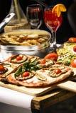 Geproeft en beroemd Italiaans voedsel Stock Foto's