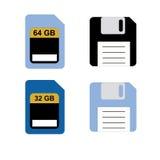 Gerät für das Behalten von Informationen vom Computer Vecto Lizenzfreie Stockfotografie