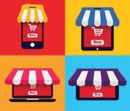 Gerät-Ikonen-Shop Lizenzfreie Stockfotos