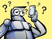Gerät und Ding mit niedrigem Technologieroboter Lizenzfreies Stockfoto