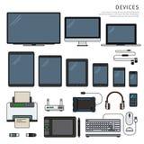 Geräte auf Weiß Lizenzfreie Stockfotos