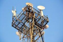 Geräte eines Telefonturms Stockfoto