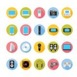 Geräte und Unterhaltungsikonen eingestellt Lizenzfreie Stockbilder