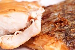 Geräucherte Fisch-Hechtdorsch-Leiste Stockfoto