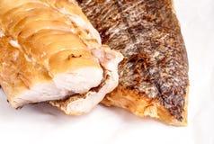 Geräucherte Fisch-Hechtdorsch-Leiste Lizenzfreies Stockbild