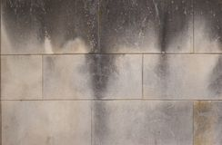 Geräucherte Kleberziegelsteine grunge Beschaffenheit Stockfoto