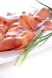 Geräucherte Lachse für Weihnachten Stockfotos