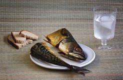 Geräucherte Makrele, Stilllebennahaufnahme Lizenzfreies Stockbild
