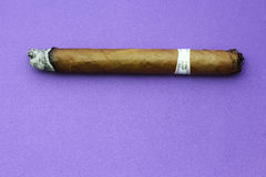 Geräucherte Zigarre Stockfotos