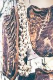 Geräucherter Speck und Knoblauch Lizenzfreies Stockbild