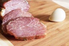 Geräuchertes Fleisch Stockfotos