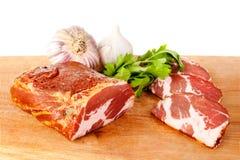 Geräuchertes Schweinefleisch Stockfoto