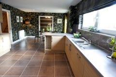 Geräumige moderne Küche stockbilder