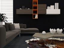 Geräumiges modernes Schlafzimmer Stockfotografie