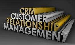 Gerência CRM do relacionamento do cliente Fotos de Stock