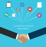 Gerência CRM do relacionamento do cliente Imagens de Stock Royalty Free