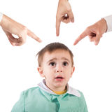 Gerügtes Kind Stockfoto