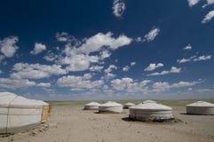 Ger de Toevlucht van het Kamp, de Woestijn van Gobi Royalty-vrije Stock Afbeelding