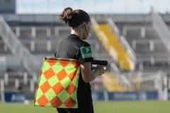 GER: DONNE DI FC BAVIERA - DONNE DI MSV DUISBURG, 09 23 2018 fotografia stock