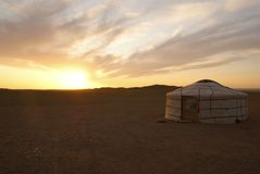 Ger en Mongolia Foto de archivo