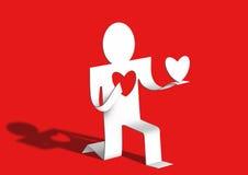 ger hjärta henne den älska mannen Arkivfoton