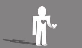 ger hjärta henne den älska mannen Royaltyfria Bilder